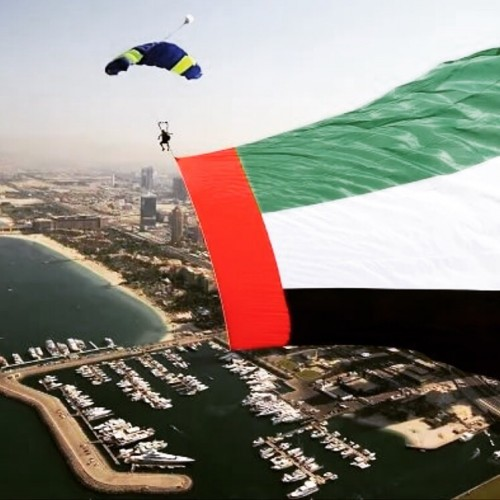 UAE fly flag
